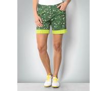 Hose Bermuda-Short im Green-Print
