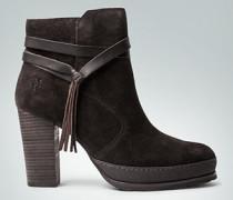 Schuhe Stiefelette mit Zierbans und Fransen