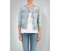 Jeansjacke mit Perlen-Verzierung