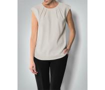 Shirt mit seidig glänzenden Seitenpartien