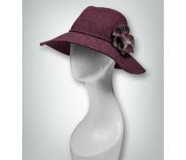 Hut mit breiter Krempe und Blumen-Element