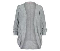 Strickjacke Circle Jersey Brushed Grau