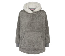 Poncho Fleece Bunny Grau