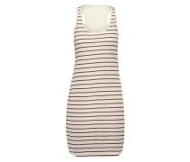 Stripe-Nachthemd Weiß