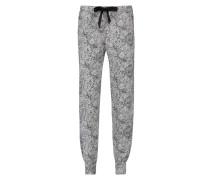 Pyjamahose, jersey Weiß