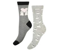 3 Paar Socken Badger Grau