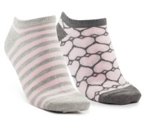 3 Paar Socken Trainerliners Cotton Rosa