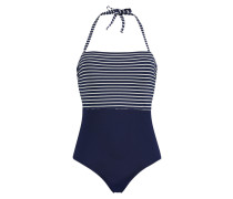 Strapless-Badeanzug Resort Stripe Blau