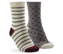 3 Paar Socken Badger Rot