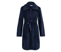 Bademantel, Zipper Fleece Blau