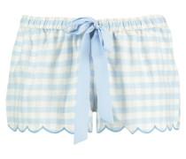 Pyjamashorts Check Blau