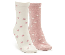 2 Paar Baumwoll-Socken Rosa