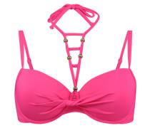 Vorgeformtes Bikinitop Tropical Necklace Rosa