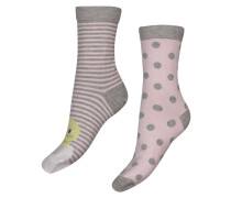 2 Paar Socken Chick Cotton Grau