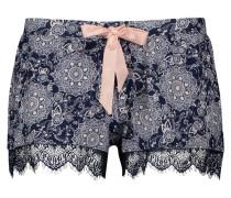 Shorts Jersey lace Blau