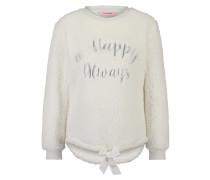 Fleece Sweater Schaf Weiß