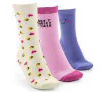 3 Paar Socken Rosa