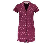 Pyjamaset Shorts Heart Rood