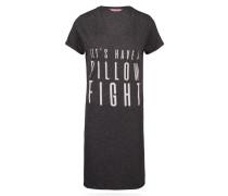 Nachthemd, V-Ausschnitt Grau