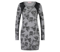 Langarm-Nachtshirt Grau