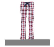 Pyjamahose Check Rot