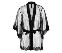 Kimono Mesh Dot Schwarz