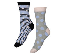 Socken, 2er-Pack winter Blau