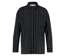 Pyjamatop Woven Striped Schwarz