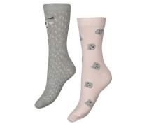 Socken, 2er-Pack winter Grau