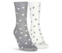2 Paar Baumwoll-Socken Grau