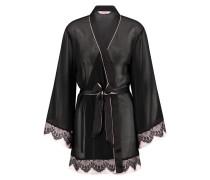 Kimono Chiffon lace Schwarz
