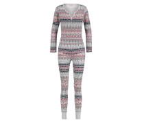 Pyjamaset, Waffelstoff Grau