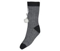 Haussocken Novelty Knit, Haussocken Novelty Knit Grau