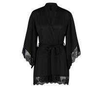 Kimono Peggy Satin Zwart
