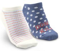 3 Paar Socken Trainerliners Cotton Weiß
