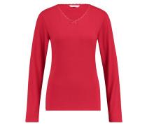 Top V-Ausschnitt Lace Rot