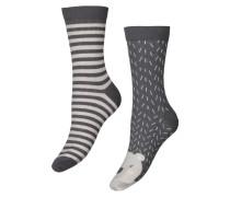 Socken, 2er-Pack winter Blau