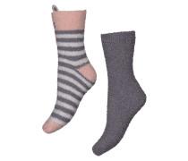 Socken, 2er-Pack, Cos Animal Grau