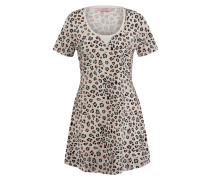 Nachthemd Leopard Schwarz