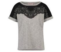 Kurzarm-Top Sweat Lace Grau