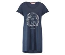 Nachthemd Rundhals Blau