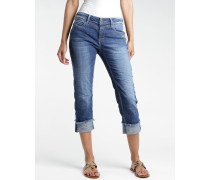 Luisa Straight Fit X Cropped Jeans