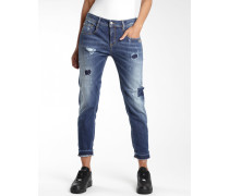 Amelie Relaxed Fit Cropped Jeans