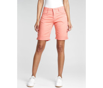 Amelie - Relaxed Fit - Bermuda Shorts - coral