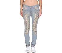 Gang Nena Skinny Leo Print Jeans