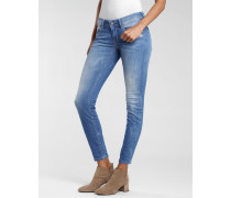 Faye Skinny Fit Jeans mit verkürztem Bein