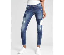 Faye Premium Skinny Fit Cropped Jeans