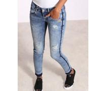 Gang Nena Skinny Fit Enge Damen Jeans Cropped mit Seitenstreifen