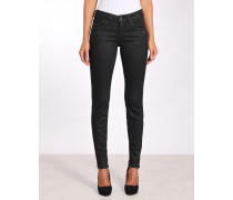 Jay Slim Fit High Rise Coated Jeans