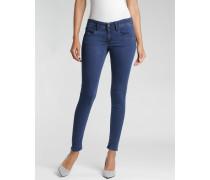 Faye - Skinny Cropped Fit Jeans - verkürzte Beinlänge - denim